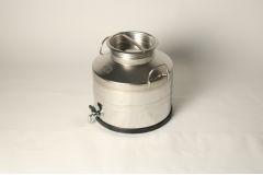 Бидон из нержавеющей стали 20 литров с вальцованным дном