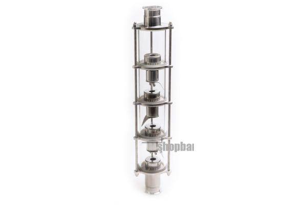 Колпачковая колонна для дистилляции с 4 уровнями очистки